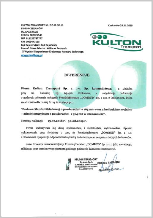 Kułton - referencje